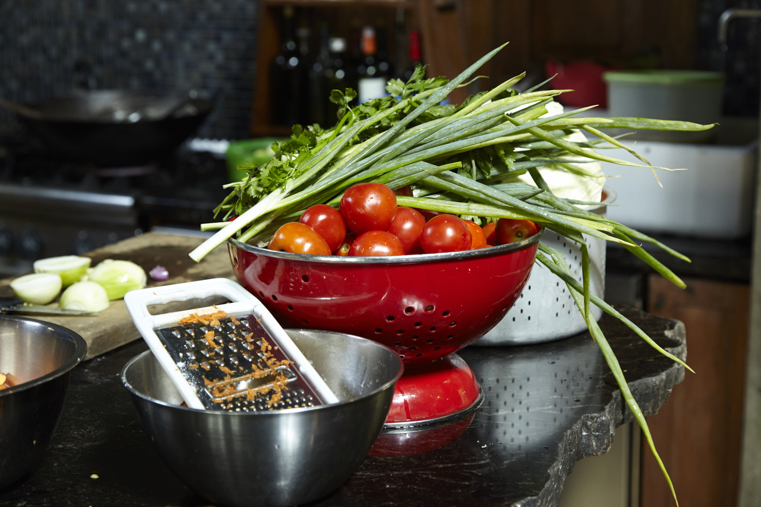 We use local and tasty raw material when we cook