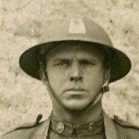 WWI Combat Veteran Portrait Photo - Peter Pizzolongo, 77th Division, 305th Infantry Regiment