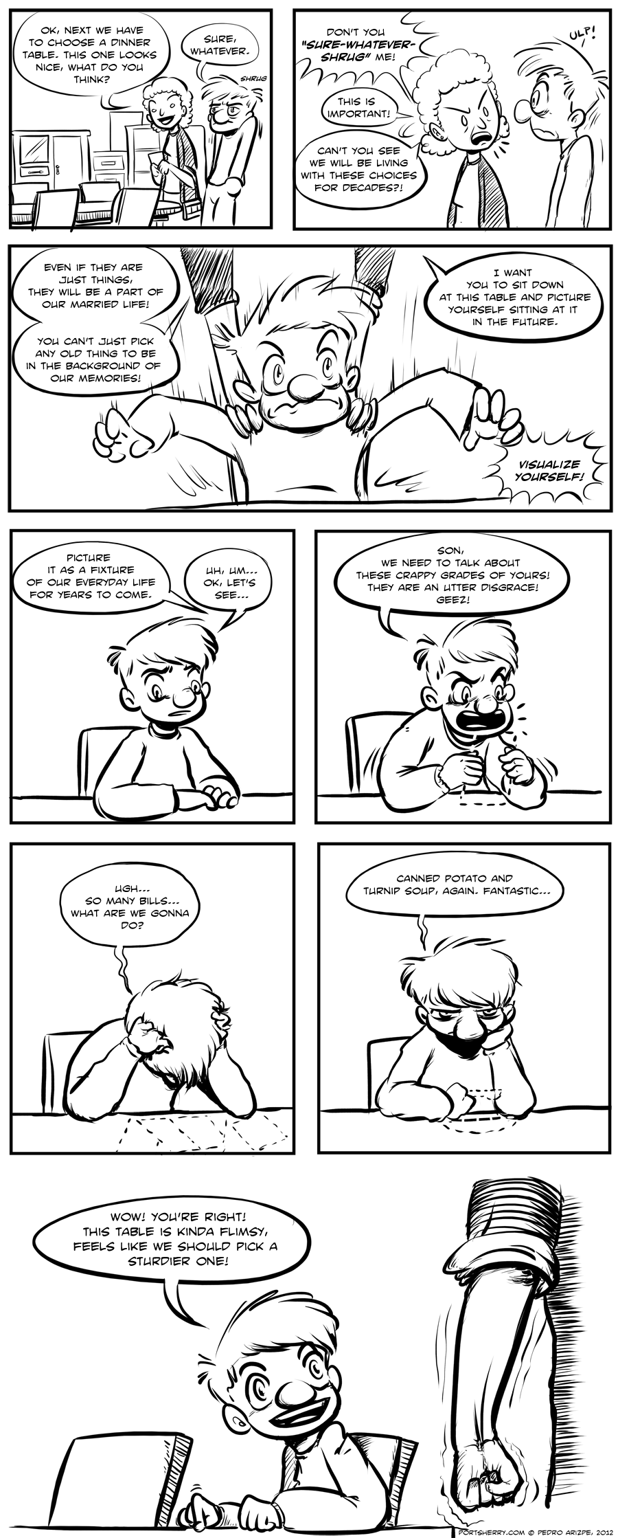 Picking a table