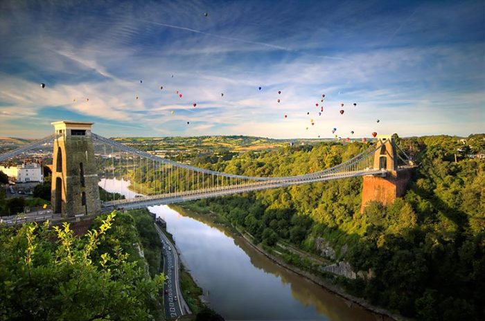 Balloons over the Portway
