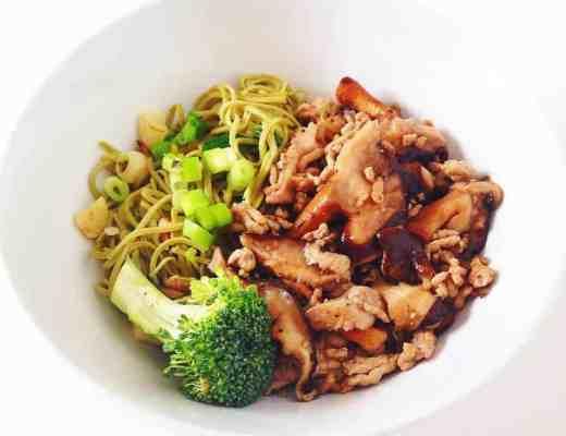 Edamame Noodle with Shiitake Mushrooms
