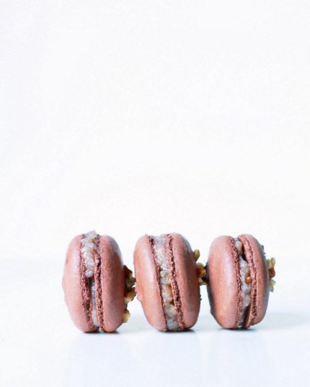 German Chocolate French Macarons | Posh Little Designs
