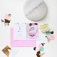 Custom Party Invite | Beanie Boo Ice Cream | Posh Little Designs