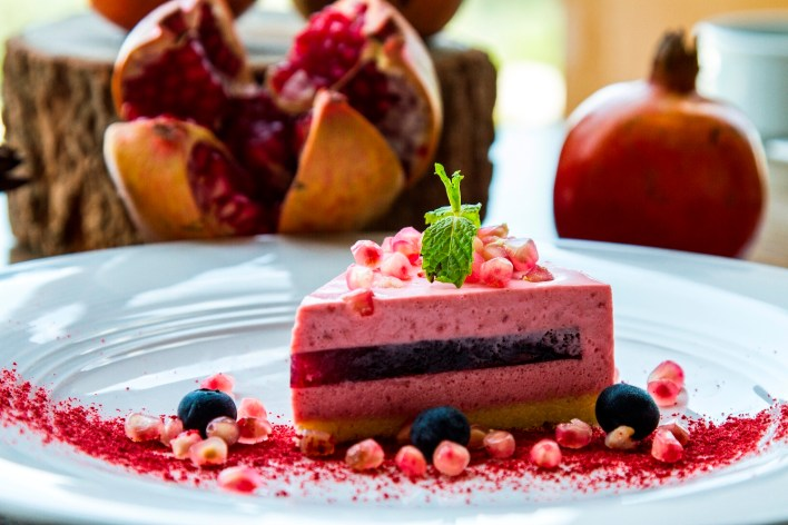 Pomegranate Jelly Mousse