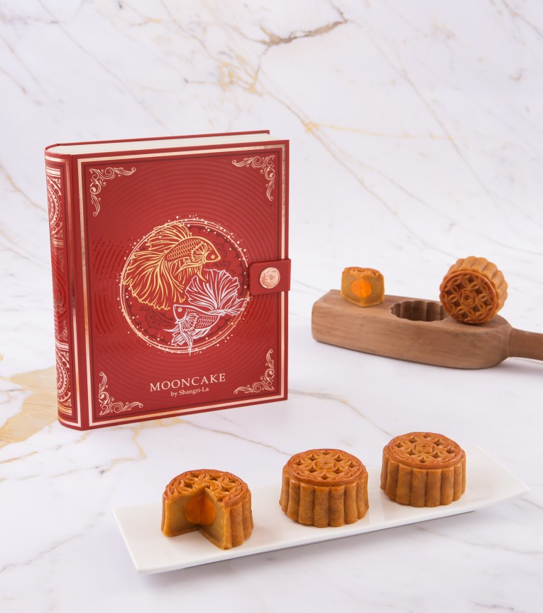 01.2.Mid-Autumn Festival 2019, Shangri-La Hotel, Bangkok Mooncakes - Double Happiness Set (Four-piece)