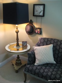 Vintage French corner in a guest room