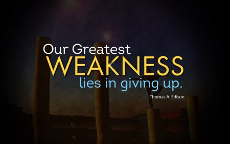never give up 4