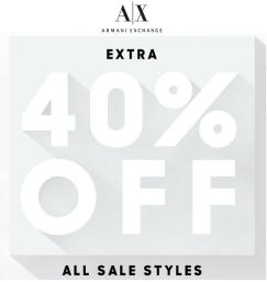 AX 40% off