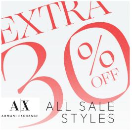 Armani Exchange 30% off Sale