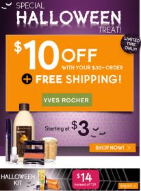 Yves Rocher 10$ off