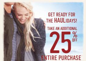 Hollister 25% off