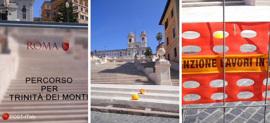 escadaria de Trinità dei Monti em Roma