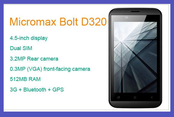 Micromax Bolt D320 Price