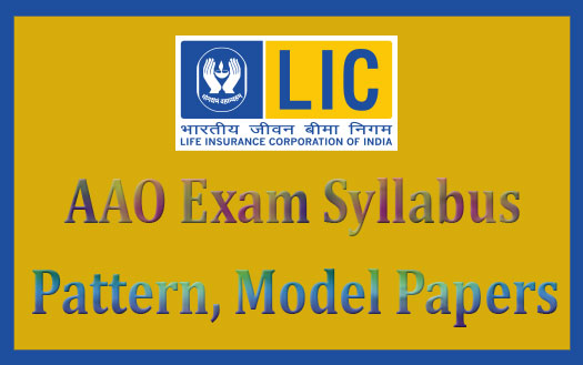 LIC AAO 2016 syllabus