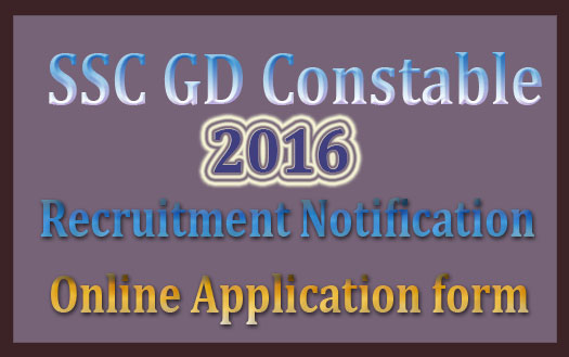 SSC GD recruitment 2017