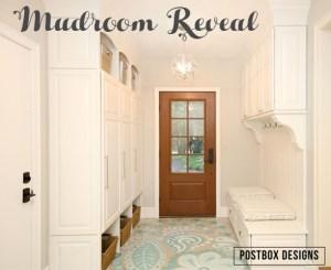 Mudroom Makeover Reveal + DIY Painted Floors