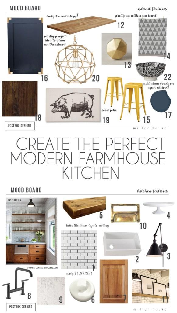 Farmhouse Kitchen Mood Board