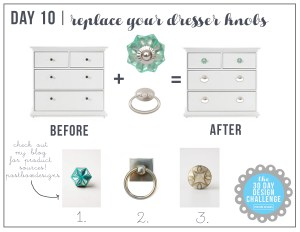 30 Day Design Challenge: Day 10 Swap out your Knobs