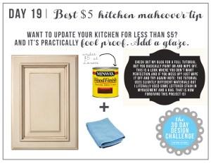 30 Day Design Challenge: Day 19 The Best $5 Kitchen Upgrade