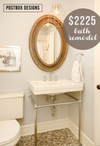 $2225 Bathroom Makeover: Modern Gentleman's Bath