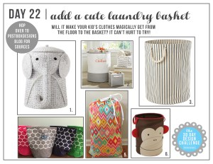 30 Day Design Challenge: Day 22 Cute Kid's Laundry Baskets (+2 DIY Ideas!)