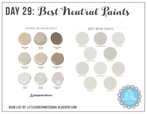 30 Day Postbox Design Challenge: Day 29 Picking the Perfect Neutral Paint Color