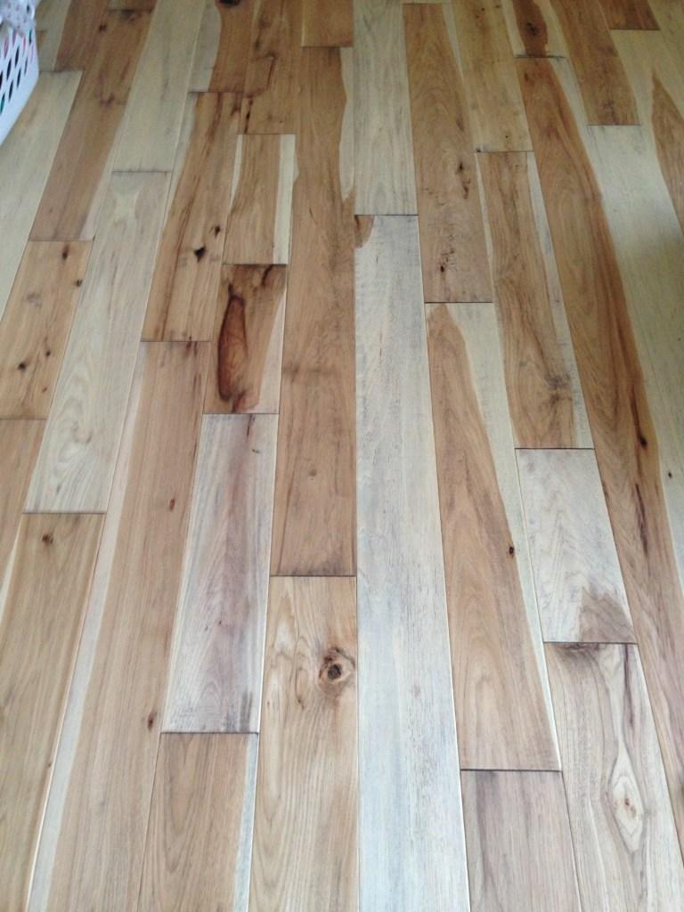 wood floor installed hall
