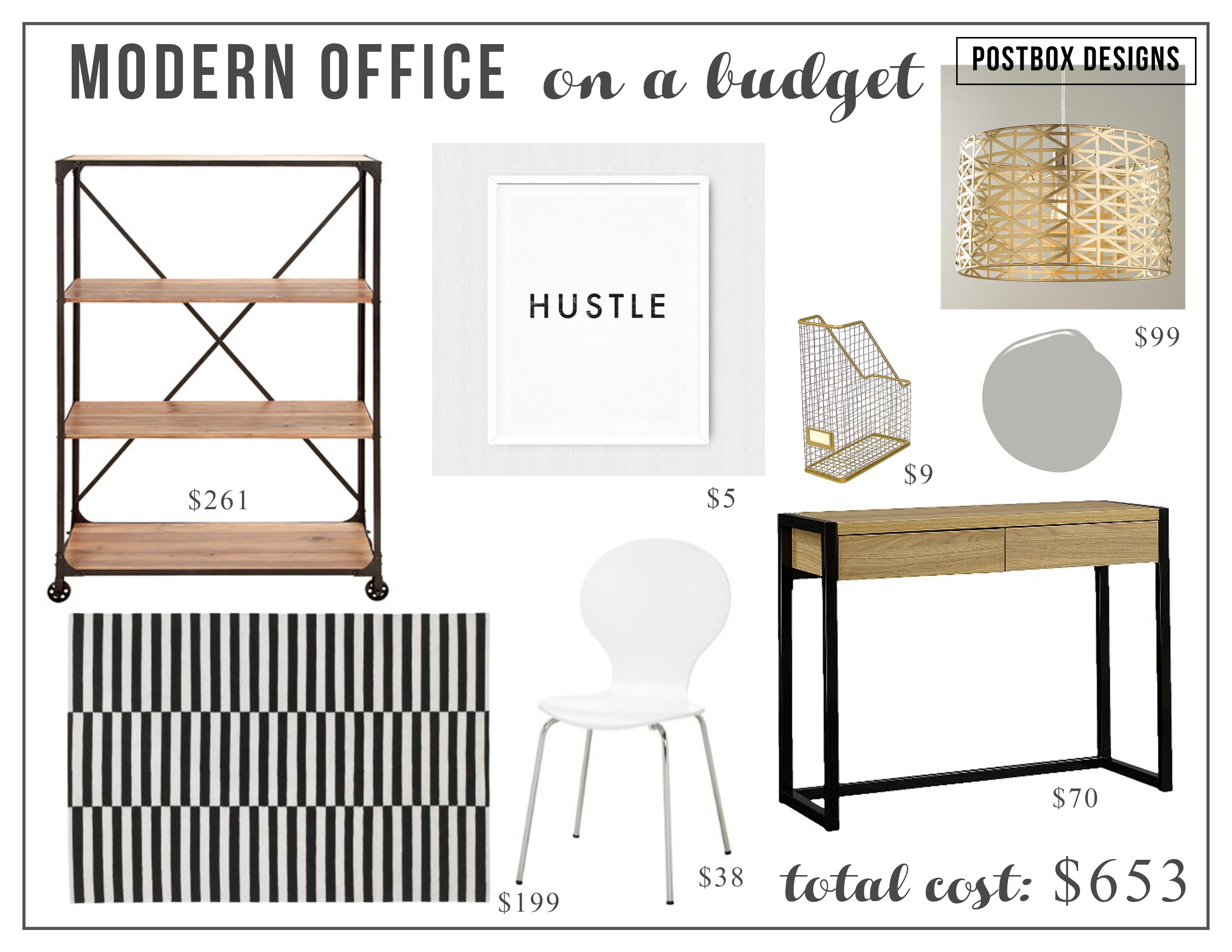Modern Glam Office Copycat: Two Offices: 1 High & 1 Low - Postbox ...