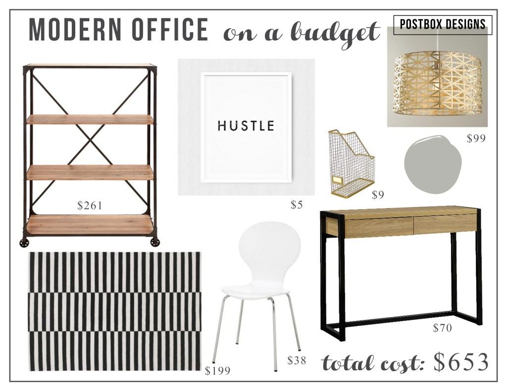 Postbox Designs Design Challenge: Budget Home Office