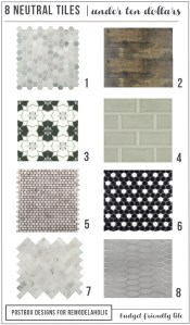 8 Tiles for Under $10: A Tile Round-up!