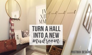 Turn Your Hall Into a Mudroom Makeover! A BIG REVEAL!
