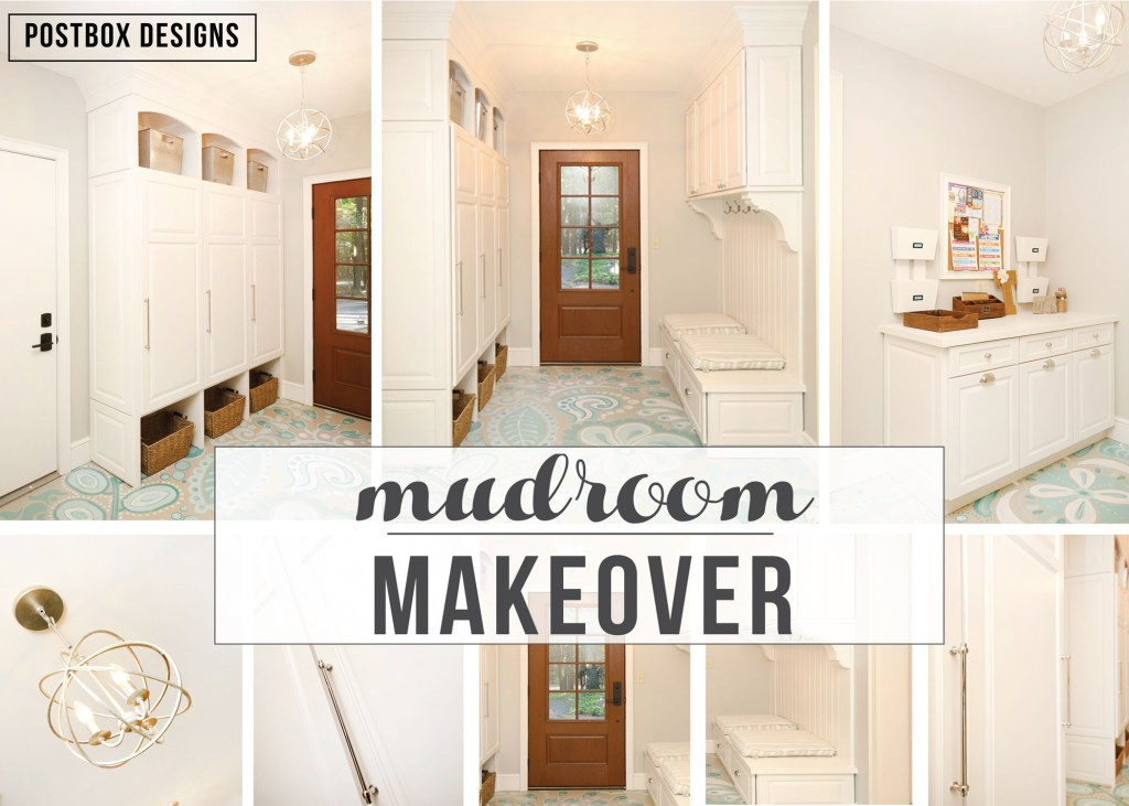 Mudroom Makeover by Postbox Designs
