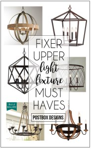 6 Steps to a Fixer Upper Room + 6 Fixer Upper Chandeliers