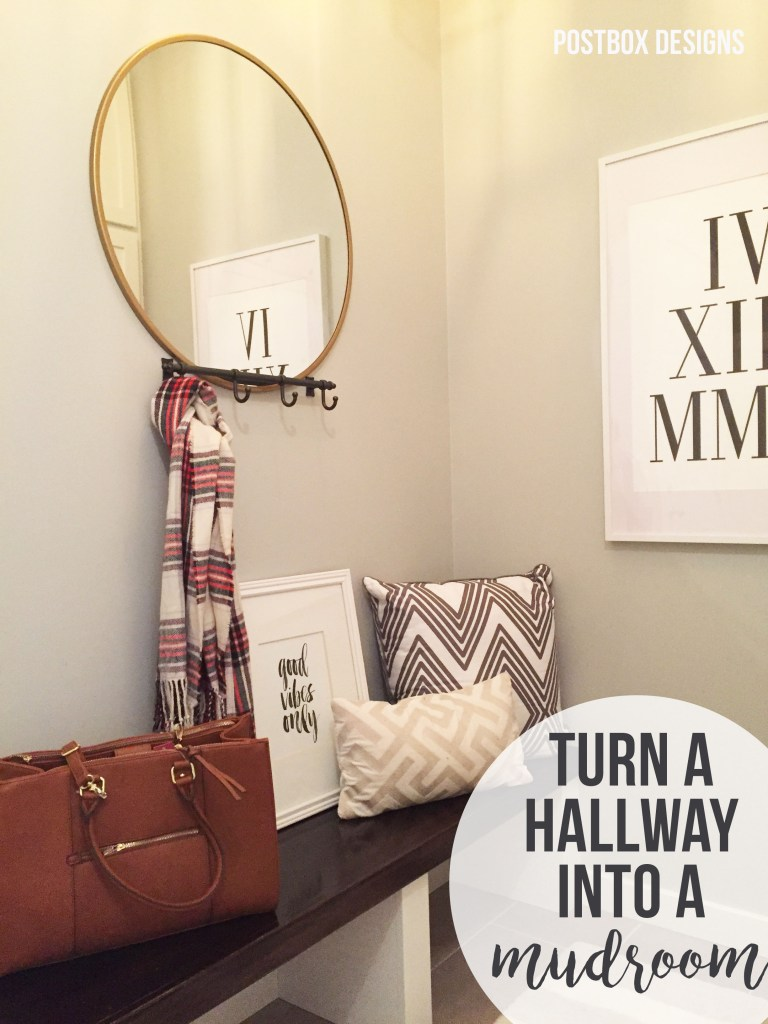 Turn a Hall into a Mudroom with Lockers & Storage Bench by Postbox Designs,