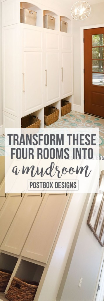 4 Rooms You Can Turn Into a Mudroom by Postbox Designs, lockers, command center, mudroom design, mudroom ideas, e-design, hallway lockers
