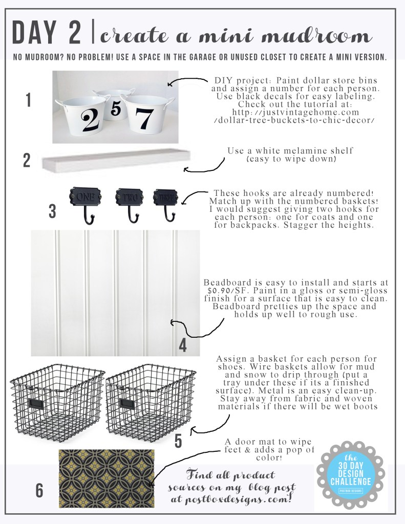 How To Create a DIY Budget Friendly Mudroom When You Don't Have One by Postbox Designs, lockers, command center, mudroom ideas, mudroom design, garage mudroom