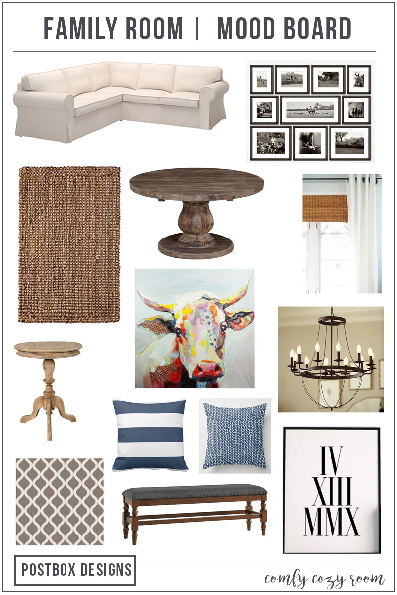 Design My Family Room Part - 32: One Room Challenge Family Room Makeover By Postbox Designs E-Design:  Creating A Cheery