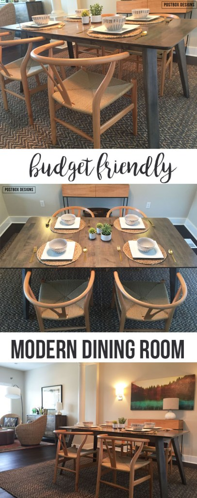 Modern Dining Room Makeover by Postbox Designs, west elm, all modern, dining room decor, modern dining room, wishbone chair, e-design