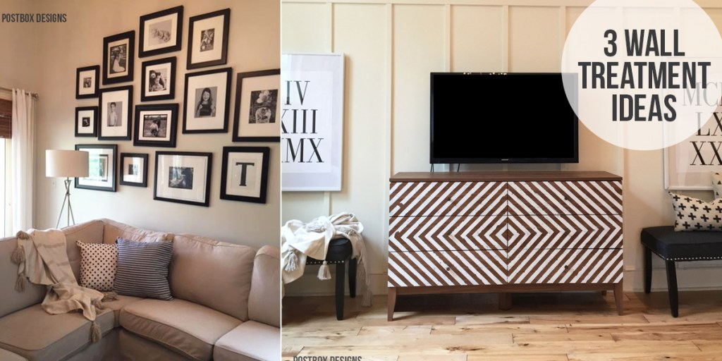 One Room Challenge: Farmhouse Family Room Makeover by Postbox Designs: How to Decorate a Two Story Room & Wall Treatments