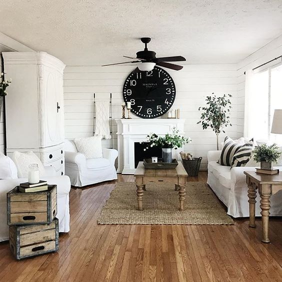 How To Style a Farmhouse Family Room On a Budget by Postbox Designs for Remodelaholic