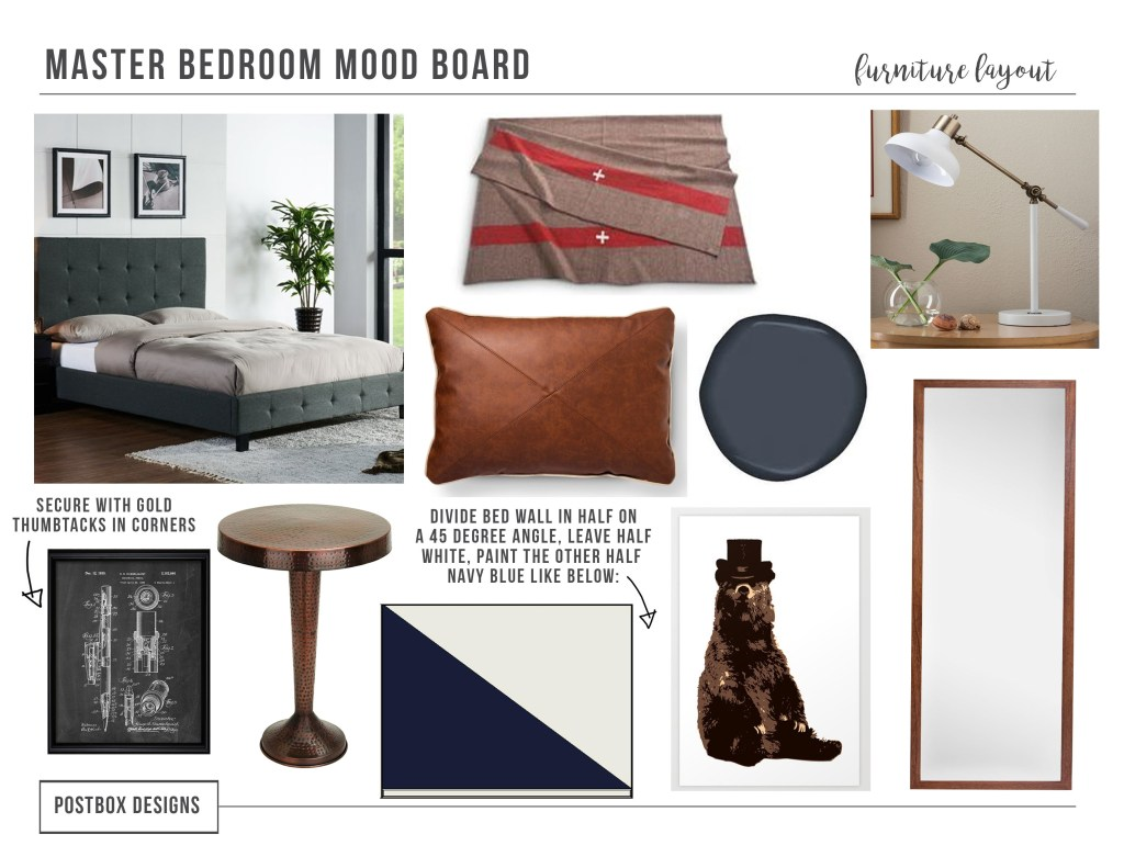 Modern Style on a Budget-How to Get the Look! Modern Bedroom Mood Board by Postbox Designs E-Design
