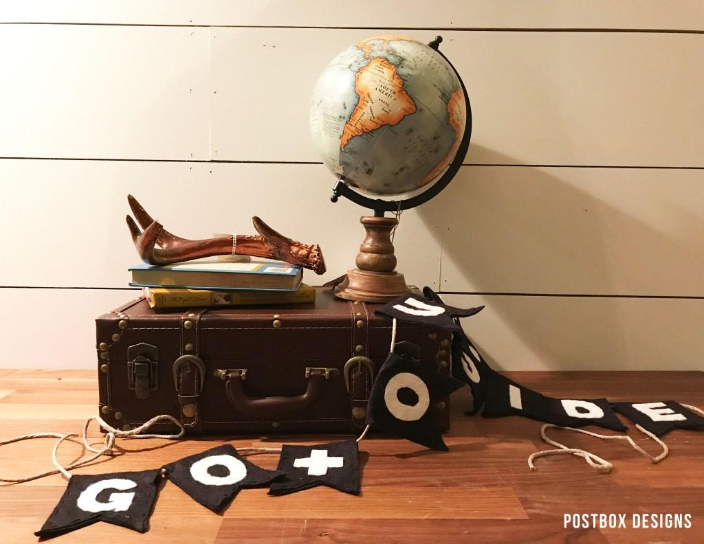 Postbox Designs Interior E-Design: Boy's Adventure Woodland Bedroom Makeover for One Room Challenge