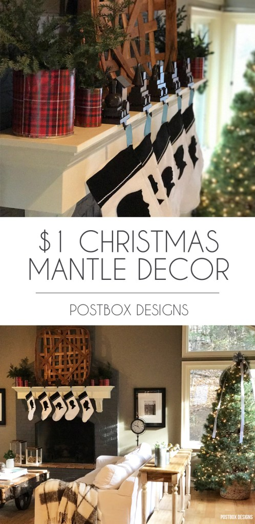 3 Budget Friendly Christmas Decorating Ideas by Postbox Designs, Christmas Mantle Decor, Holiday Decorating Ideas