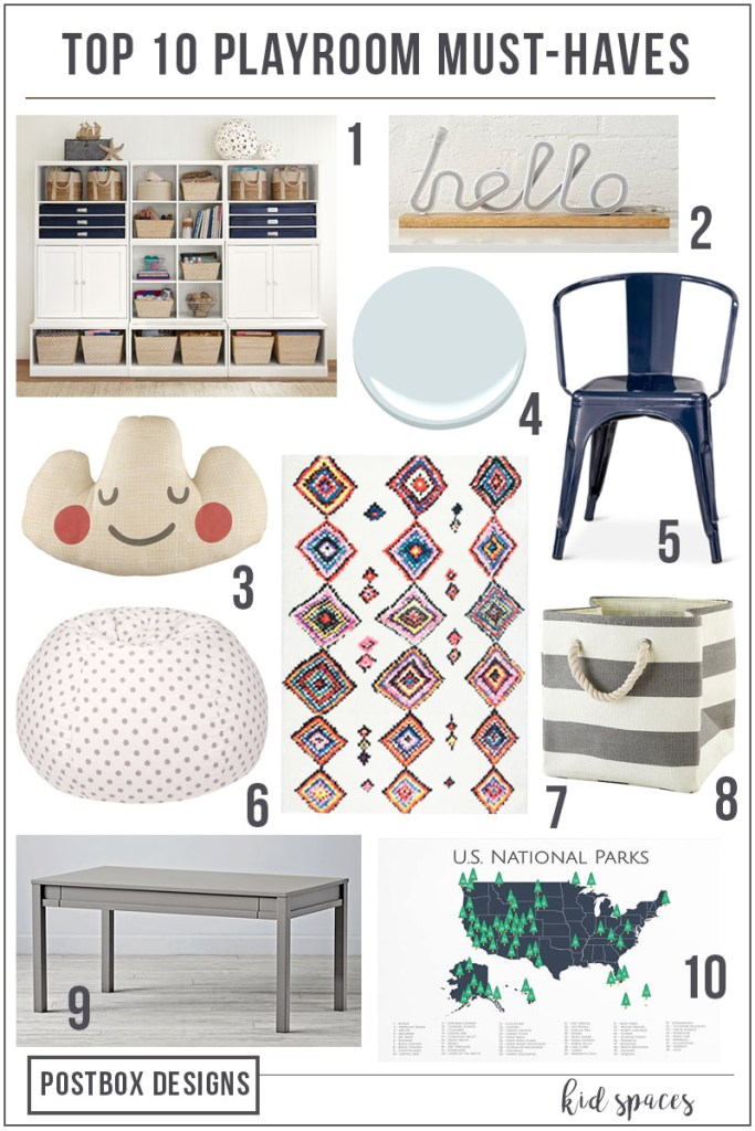 Postbox Designs E-Design: FREE Playroom Mood Board + Shopping List, 10 Playroom Must Haves & What To Not Waste Your Money On, Online Interior Design