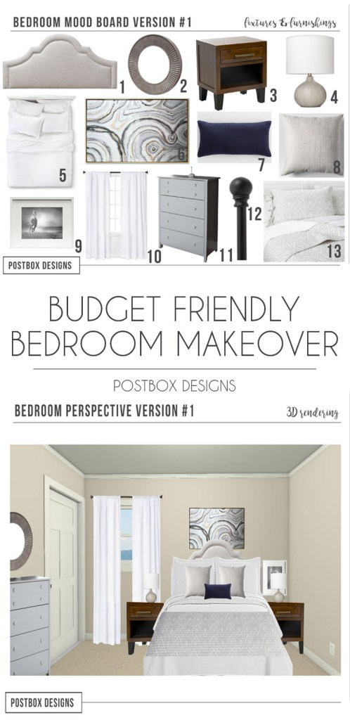 Postbox Designs Interior E-Design: Budget Friendly Bedroom Makeover using online design, Bedroom Design Ideas, Target Bedroom Decor