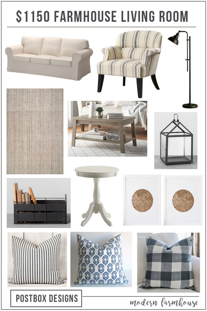 List Of Living Room Furniture.  1150 Farmhouse Living Room Mood Board Shopping List Makeover Design Jumpstart Program