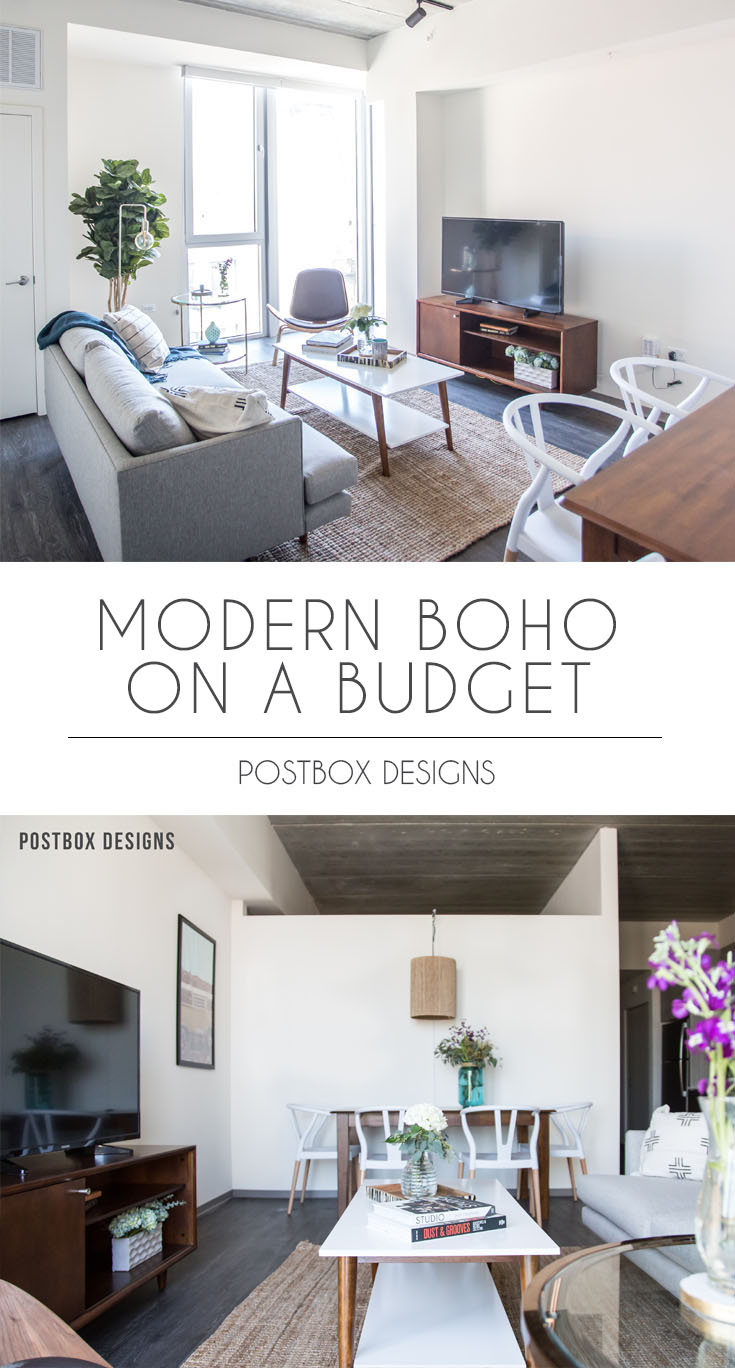 Postbox Designs Interior E Design: Modern Boho Dining Room U0026 Living Room  Makeover Reveal