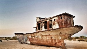 The Ship Graveyard at Moynaq Photo by Freda Hughes