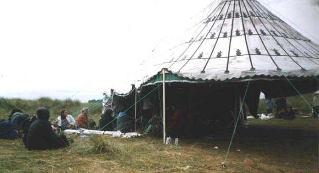 Tent at Fuck Homelands 1999