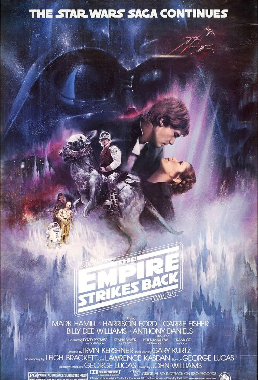 The Empire Strikes Back - 1980: I had to put a Star Wars film in here somewhere but I was just not sure which one as there's a ton of decent artwork.